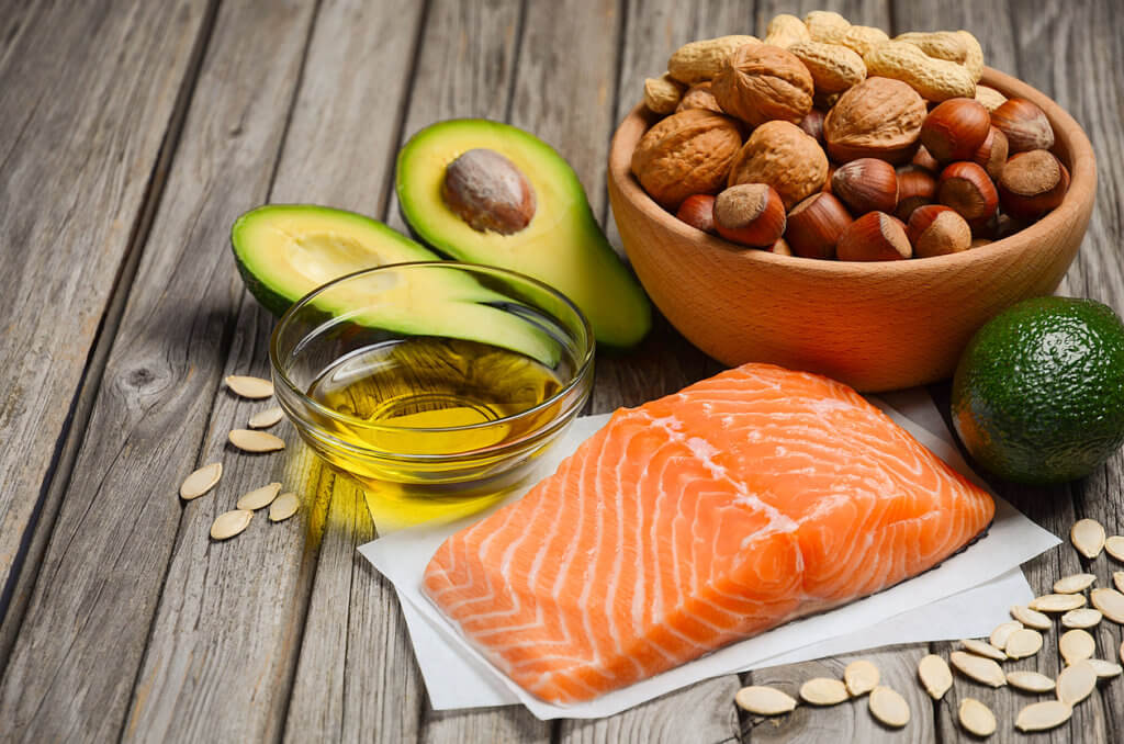 This image has an empty alt attribute; its file name is Healthy-fats--1024x678.jpg